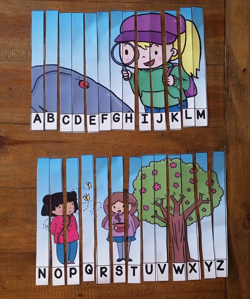 ABC picture puzzles