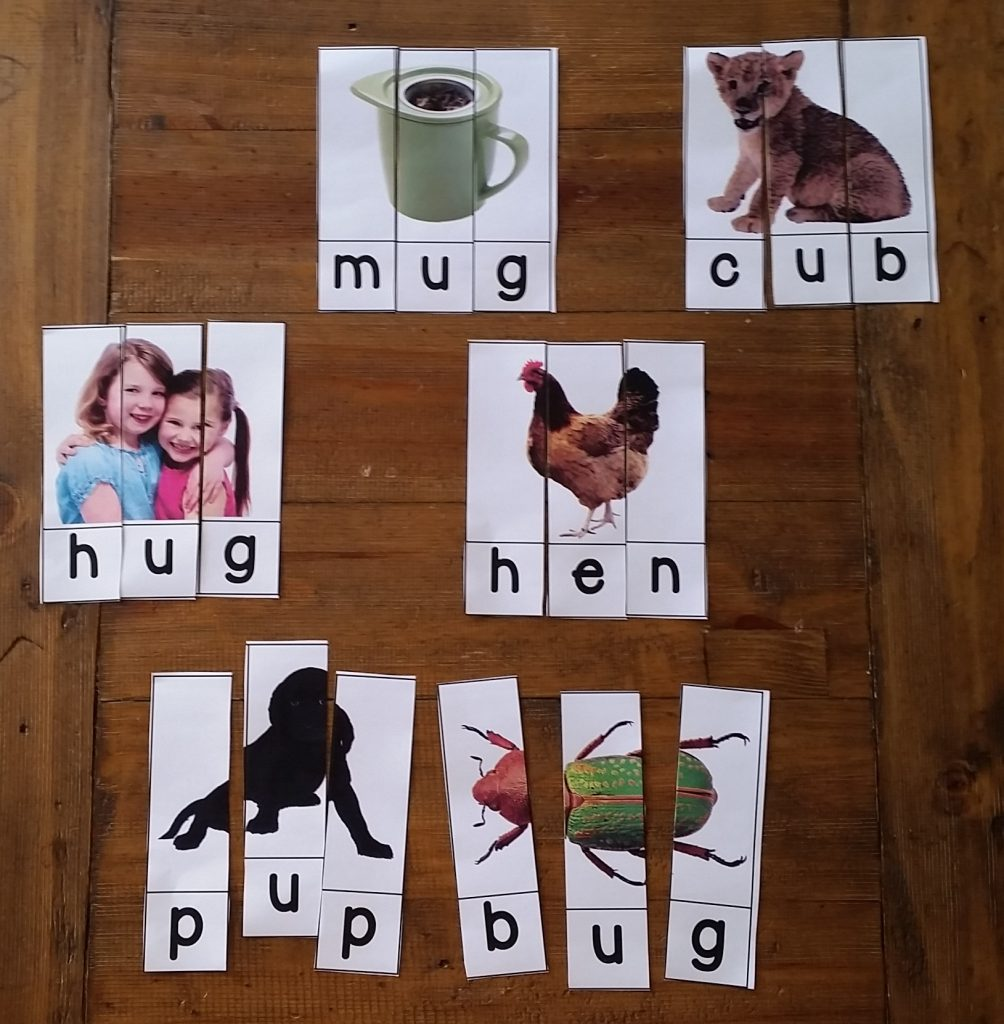 Spring themed word puzzles