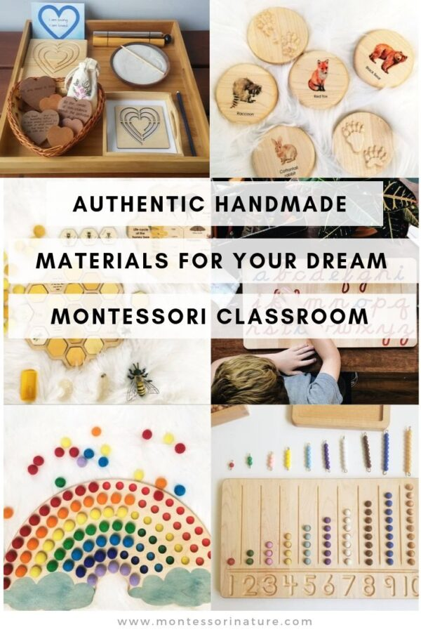 Pin the Authentic Handmade Materials for Your Dream Montessori Classroom post