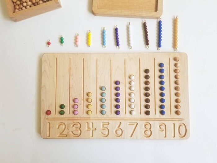 wooden 1-10 countine board with beads