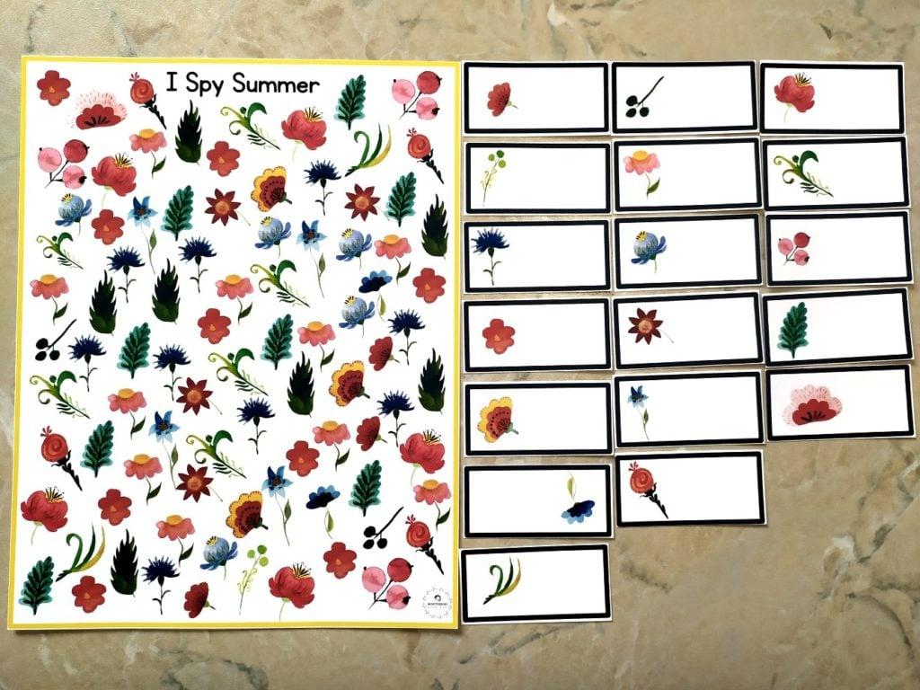 summer math printable