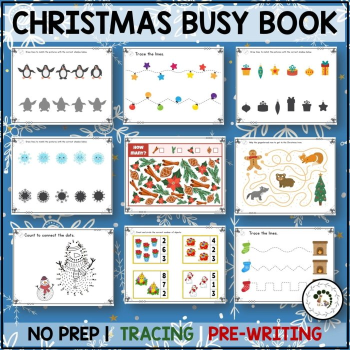 Buy Chrismtas busy book