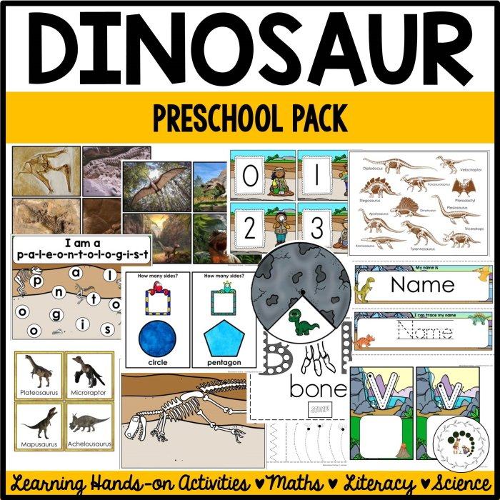Dinosaur learning activities