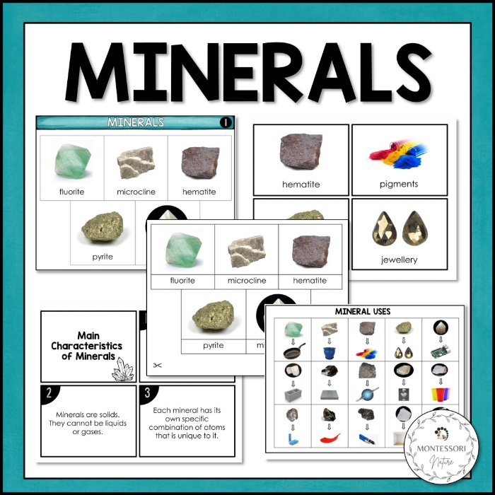 Buy Types of Minerals printable