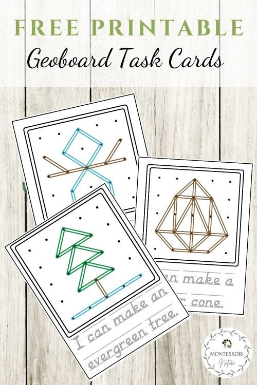 Pin Free Printables with Geoboard task cards image