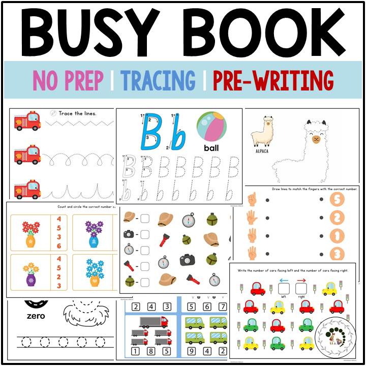 Buy busy book for preschool children