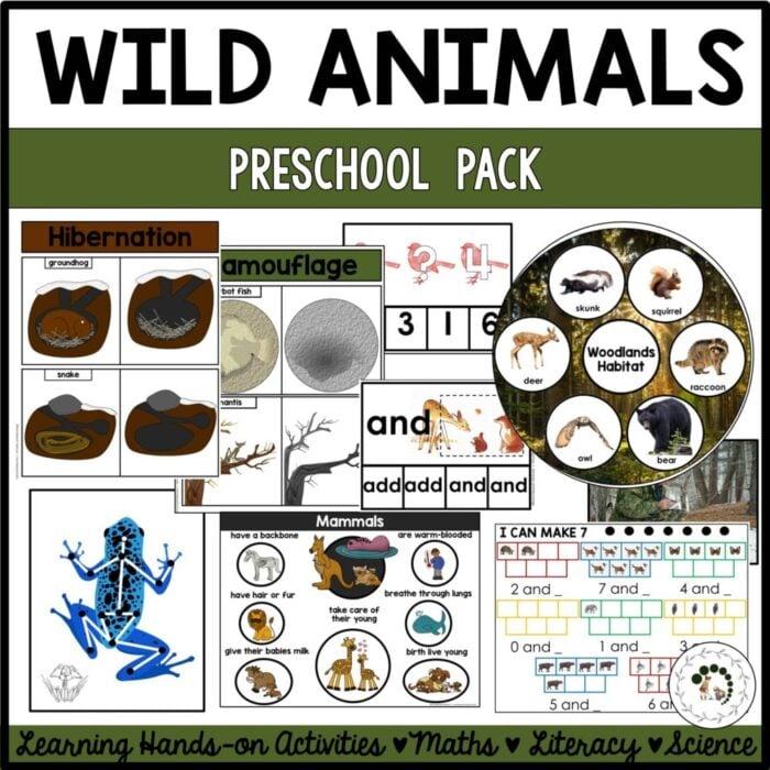 Purchase wild animals printable