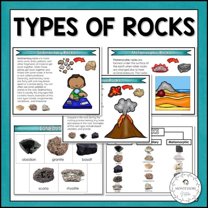 Buy Types of Rocks printable