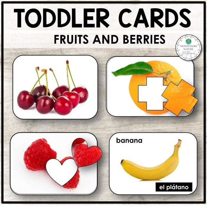 Buy toddler cards with fruits and berries