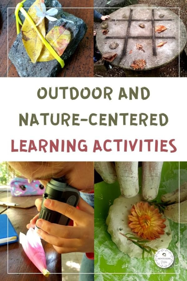 Outdoor activities with crafts and clay