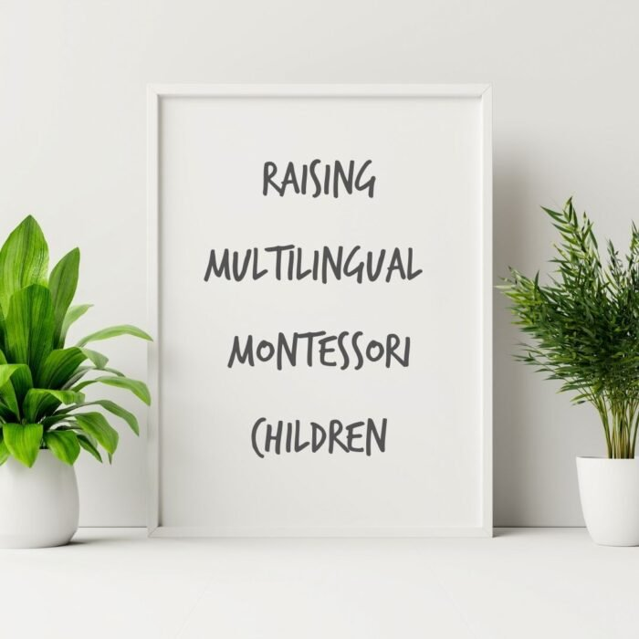 Join our facebook group Raising Multilingual Montessori children