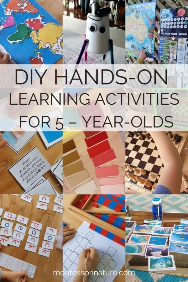Montessori inspired learning activities and educational games for 5-year-old children