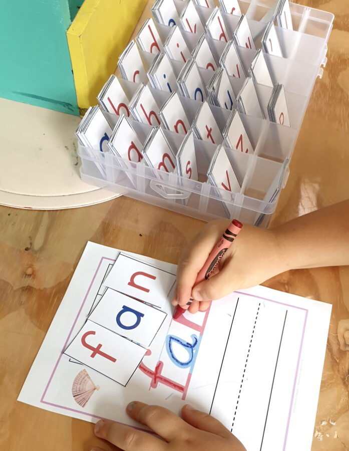 CVC words building mats - Montessori nature printable