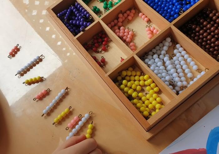 Math number beads