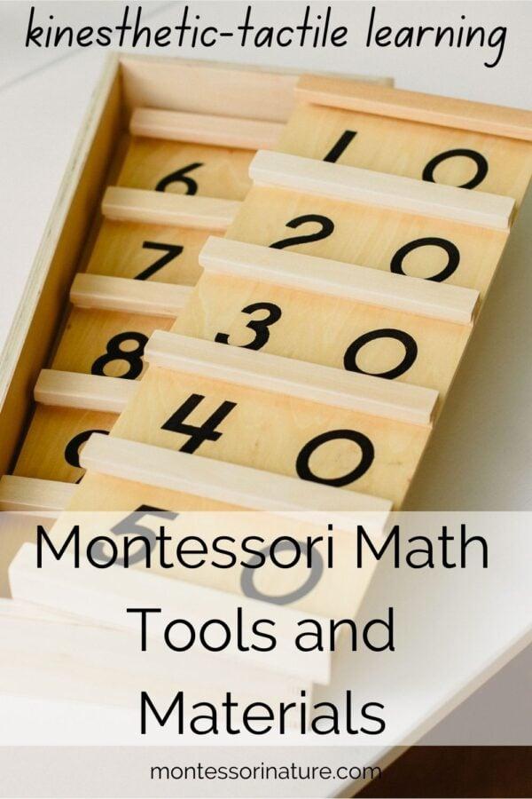 Montessori Math Tools and Materials Montessori Nature