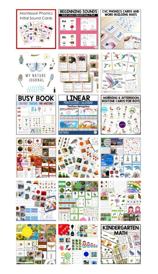 early learning activity planner montessori nature 4