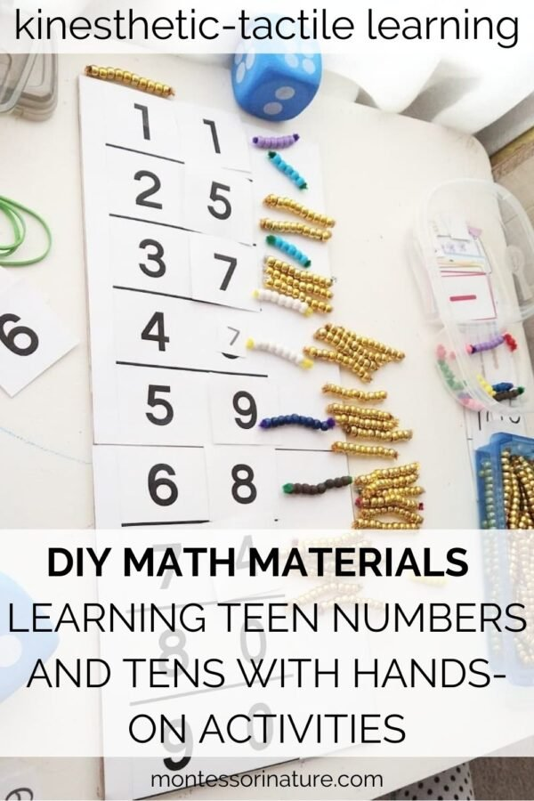 DIY Math Materials For Kindergarten - Learning Teens and Tens with Hands-on Activities