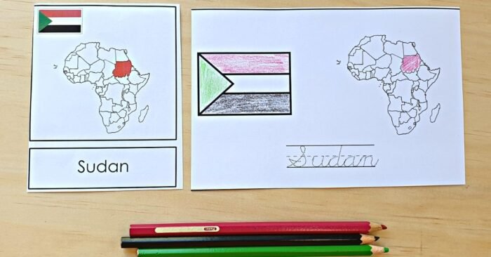 Africa Flags 3 Part Cards