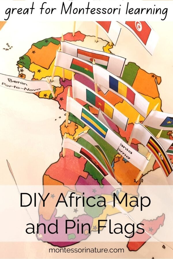 Africa – Map And Pin Flags – Learning Activity