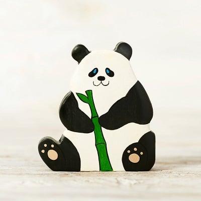 wooden panda toy