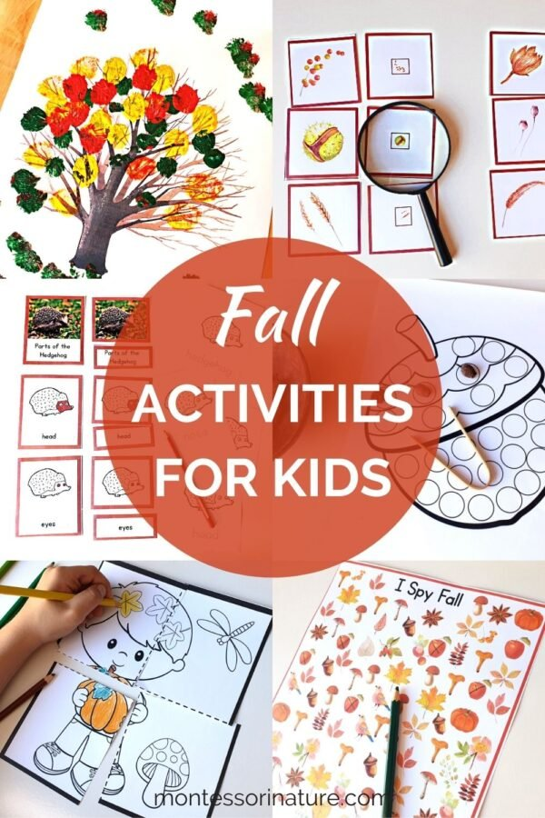 Fall printables and activities for kids