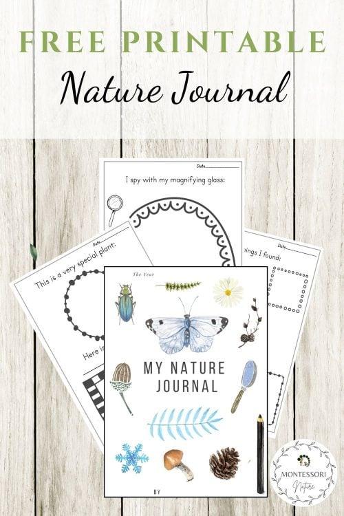 Pin Nature Journal Montessori Nature Free Printable
